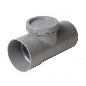 NICOLL Té de visite avec bouchon PVC mâle-femelle diamètre 63mm VL8 NICOLL VL8