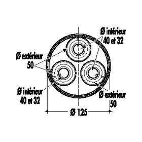 NICOLL Tampon de réduction universel, système J Elastomère diamètre 125mm XUNJ NICOLL XUNJ