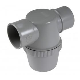 NICOLL Siphon de lavabo à coller gris avec entrée horizontale diamètre 32mm YF1C YF1C
