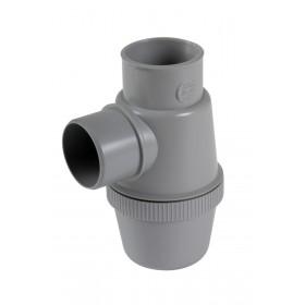 NICOLL Siphon de lavabo - YHC - PVC-C gris - diamètre 40 mm YHC