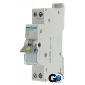 HAGER Disjoncteur Phase / Neutre 3kA C20A 1 Module MFN720