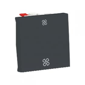 SCHNEIDER Commande de VMC Unica Anthracite 2 Vitesses 10 A Automatique NU320354VMC NU320354VMC