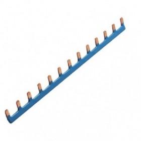 HAGER Barre de pontage 1P 63A languette 10mm bleu 13M KB163N