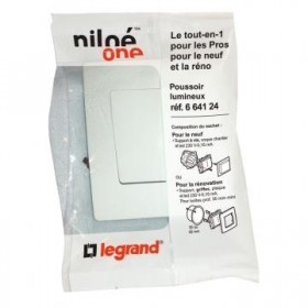 LEGRAND Niloe one Poussoir Niloé legrand - simple - 6A - 250V - Pur Complet 664105