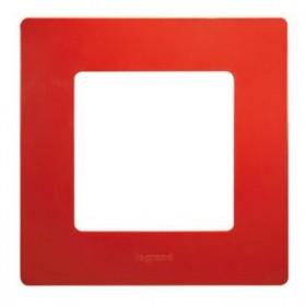 LEGRAND Plaque Niloé 1 poste - Coquelicot 96702