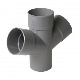 NICOLL Culotte double parallèle MF 67°30 PVC gris - diamètre 100 mm NICOLL RT16