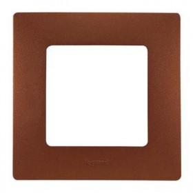 LEGRAND Plaque 1 poste Niloé Cacao 96708
