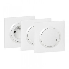 LEGRAND PACK ADD. PIECE CONNECT. BLANC 600690
