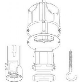 SCHNEIDER Boîte de centre avec couv non affleur connect douille piton Multifix Air DCL IMT35023