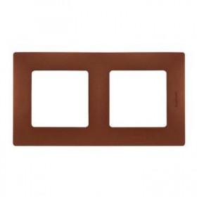 LEGRAND Plaque Niloé 2 postes - Cacao 96718
