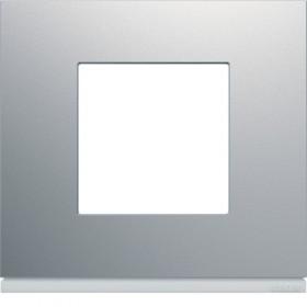 HAGER Plaque 1 Poste TITANE HAGER GALLERY WXP0102 WXP0102