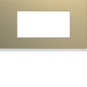 HAGER Plaque 4 Modules CHAMPAGNE HAGER GALLERY 57 mm WXP0434 WXP0434
