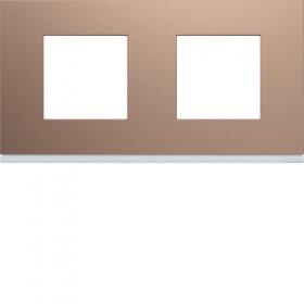 HAGER Plaque 2 Postes ROSE HAGER GALLERY 71 mm WXP0512 WXP0512