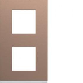 HAGER Plaque 2 Postes Vertical ROSE HAGER GALLERY 71 mm WXP0542 WXP0542