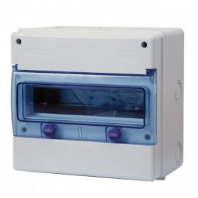 OHMTEC Coffret étanche 1 rangée 12 modules IP65 IK08 OHMTEC 423195 423195