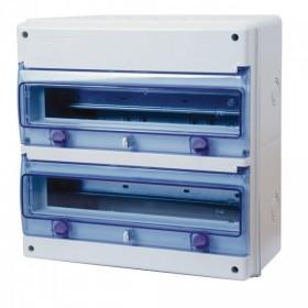 OHMTEC Coffret étanche 2 rangées 34 modules IP65 IK08 OHMTEC 423196 423196