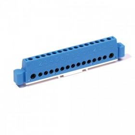 OHMTEC Borniers de Neutre Bleu 15 Entrées 1.5 à 25 mm2 OHMTEC 423604 423604