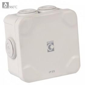OHMTEC Boite étanche électrique évolutive IP65 105x105x55 mm OHMTEC 438406 438406