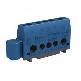OHMTEC Borniers de Neutre Bleu 5 Entrées 1.5 à 25 mm2 OHMTEC 438416 438416