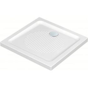 IDEAL STANDARD Receveur à poser extra plat émaillé 3 faces CONNECT 90 x 90 cm Céramique Blanc R T266301