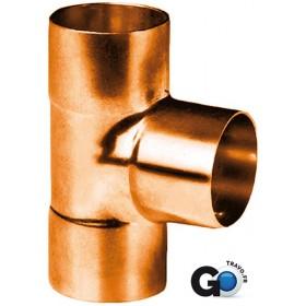ALTECH Té cuivre 5130 égal triple femelle D 14 ALTECH (Sachet de deux éléments) 5130-14(2)