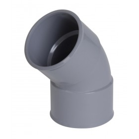 NICOLL Coude femelle-femelle 45° - CH44 - PVC gris - diamètre 40 mm NICOLL CH44