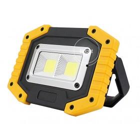 GOTRAVO Projecteur LED 20 Watts portable 400 LM prise USB LED carré rechargeable GO000005