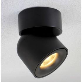 GOTRAVO Plafonnier Noir LED blanc Chaud 7 Watts Orientable et inclinable à 90° éclairage GO000008