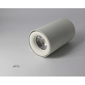 GOTRAVO Plafonnier fixe tube Blanc LED Blanc Chaud 7 Watts éclairage décoratif design mo GO000011