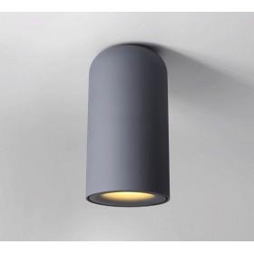 GOTRAVO Plafonnier fixe tube Gris LED Blanc Chaud 7 Watts éclairage décoratif design mod GO000015