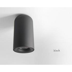 GOTRAVO Plafonnier fixe tube Noir LED Blanc chaud 9 Watts éclairage décoratif design mo GO000022
