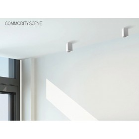 GOTRAVO Plafonnier carré Blanc LED Blanc Froid 9 watts éclairage décoratif design modern GO000024