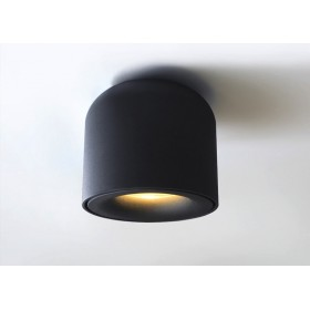 GOTRAVO Plafonnier fixe petit tube Noir Led Blanc chaud 7 Watts éclairage décoratif desi GO000027