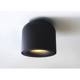 GOTRAVO Plafonnier fixe petit tube Noir Led Blanc froid 7 Watts éclairage décoratif desi GO000028
