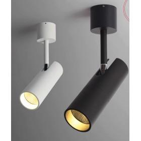 GOTRAVO Spot cylindre Noir LED 7 watts Blanc Chaud Orientable GO000037