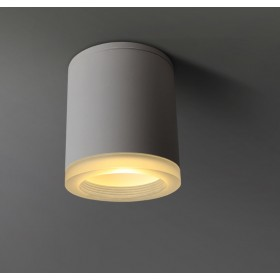 GOTRAVO Plafonnier spot LED cylindrique Blanc 9 watts blanc Chaud collerette GO000043