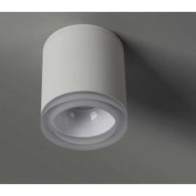 GOTRAVO Plafonnier spot LED cylindrique Blanc 9 watts blanc Froid collerette GO000044