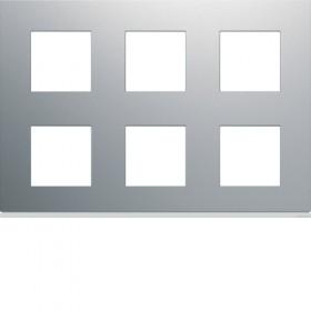 HAGER Plaque 2 rangées de 3 postes TITANE HAGER GALLERY WXP0186 WXP0186