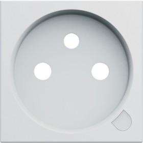 HAGER Enjoliveur prise de courant à voyant 2P+T BLANC PURE HAGER GALLERY WXD103B WXD103B