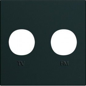 HAGER Enjoliveur prise TV+FM NOIR HAGER GALLERY WXD253N WXD253N