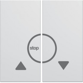 HAGER Enjoliveur bouton poussoir volet roulant BLANC PURE PURE HAGER GALLERY WXD301B WXD301B