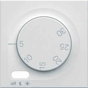 HAGER Enjoliveur thermostat d'ambiance BLANC PURE HAGER GALLERY WXP315B WXD315B