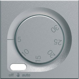 HAGER Enjoliveur thermostat fil pilote TITANE HAGER GALLERY WXP316T WXD316T