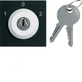 HAGER Inter à clé 3 Positions NOIR HAGER GALLERY WXF616B WXF616N