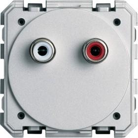 HAGER Prise RCA audio bornier à vis HAGER GALLERY WXF621 WXF621