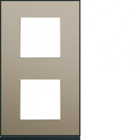 HAGER Plaque 2 Postes Vertical BRONZE HAGER GALLERY 71 mm WXP2242 WXP2242
