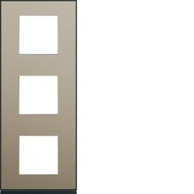 HAGER Plaque 3 Postes Vertical BRONZE HAGER GALLERY 71 mm WXP2243 WXP2243