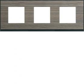 HAGER Plaque 3 Postes PECAN BOIS BRUN HAGER GALLERY 71 mm WXP2413 WXP2413