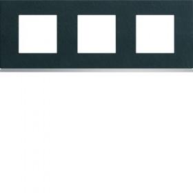 HAGER Plaque 3 Postes ARDOISE HAGER GALLERY 71 mm WXP4413 WXP4413