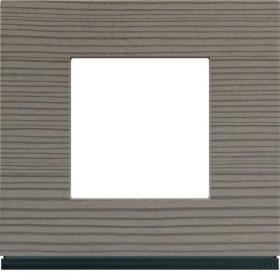 HAGER Plaque 1 Poste BOIS CENDRÉ HAGER GALLERY WXP4802 WXP4802